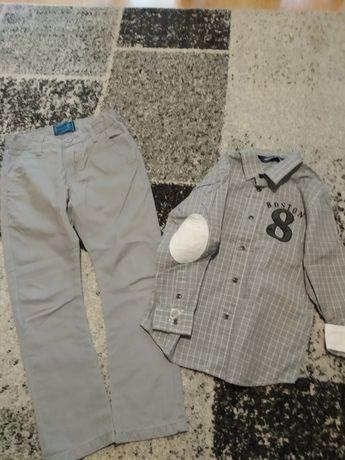 Spodnie i koszula zestaw r.116