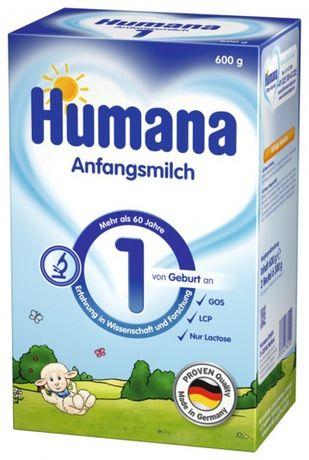 Немецкая сухая молочная смесь Humana 1 с пребиотиками, LC PUFA