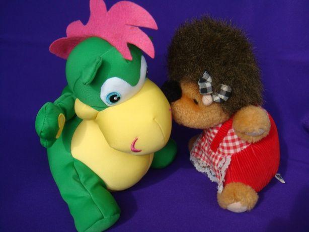 Мягкие игрушки Ёжик фирмы Lloyd и Дракончик NEST HOME две за 120 грн.