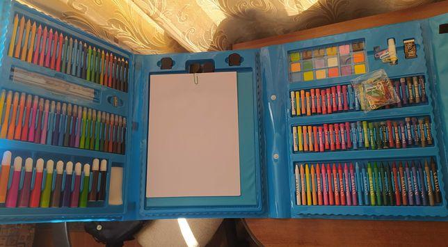 Самый БОЛЬШОЙ набор для рисования с  МОЛЬБЕРТОМ +10 раскрасок ПОДАРОК!