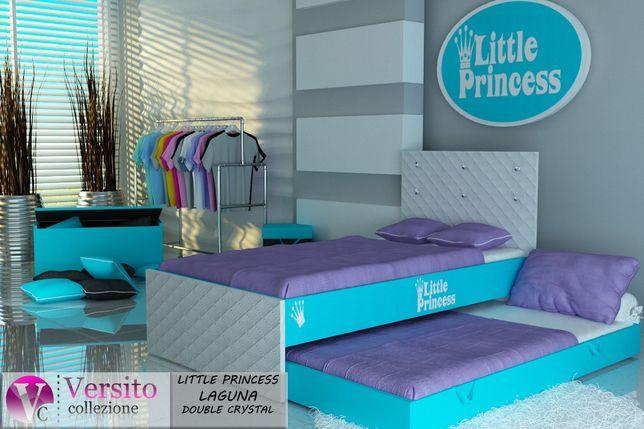 Bezpieczne łóżko piętrowe dla dzieci z materacami 10 cm,dziecięce