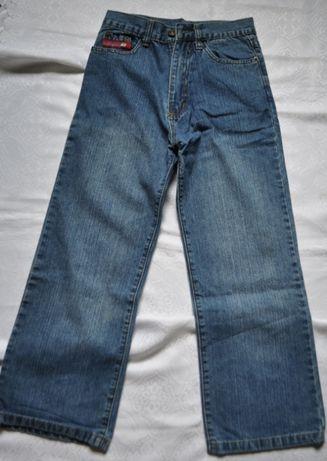 dżinsy chłopięce rozm. 146-152 spodnie ciemnoniebieskie 10 lat