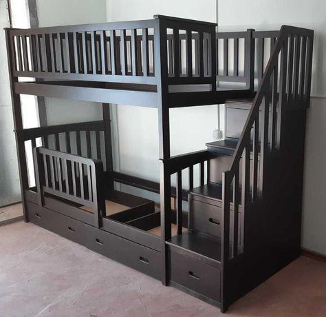 Кровать Лорд, 90х190, материал массив ольхи, цвет венге. Новая