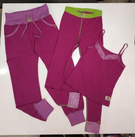 Janus 100% Merino Wool Komplet Wełniany 134 Spodnie Koszulka 120