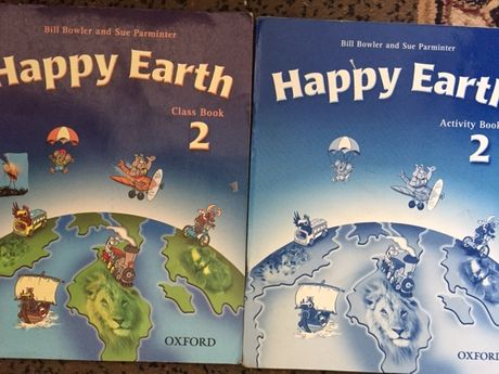 английский Happy Earth 2 oxford учебник и тетрадь все вместе