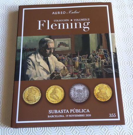 13521#Livro catálogo de Leilão moedas prata/ouro Espanha