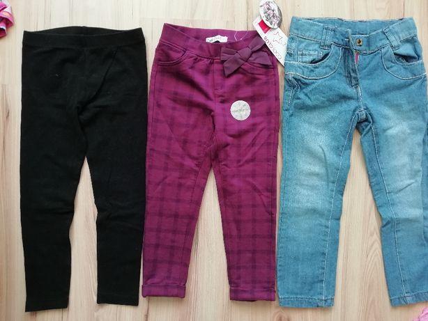 spodnie dziewczęce 104 cool club z metką jeansy