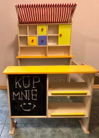 Drewniany mini-sklepik spożywczy dla dzieci