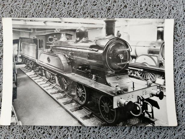 Stara angielska pocztówka Kolej żelazna