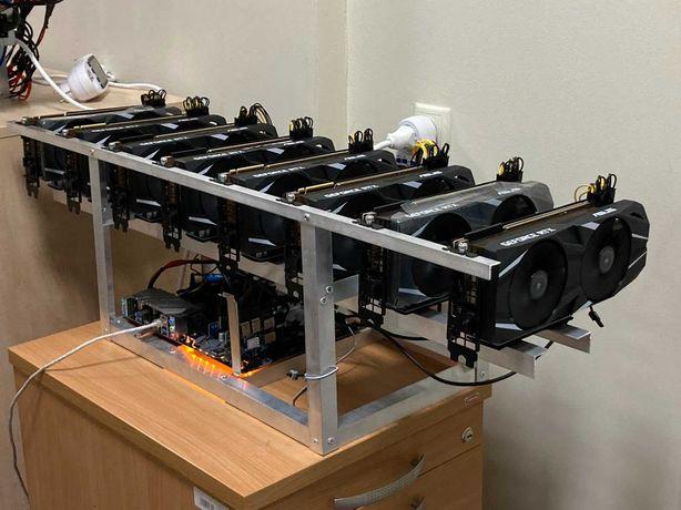 Новая майнинг ферма на 8 Asus RTX 2080Ti mining 480MH/s ETH