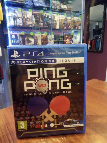 PING PONG simulate PS4 nowa