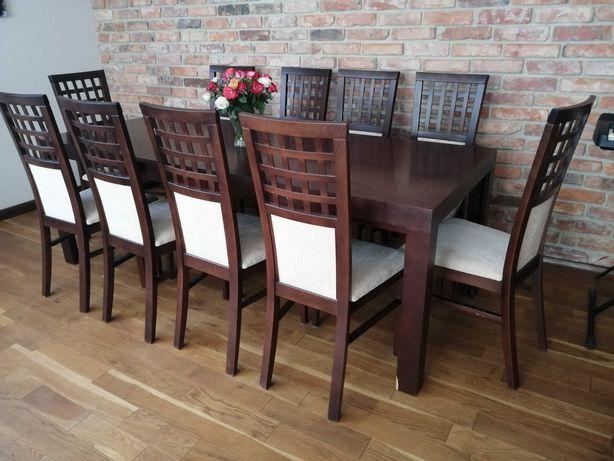 Stół rozkładany 12 krzeseł komplet