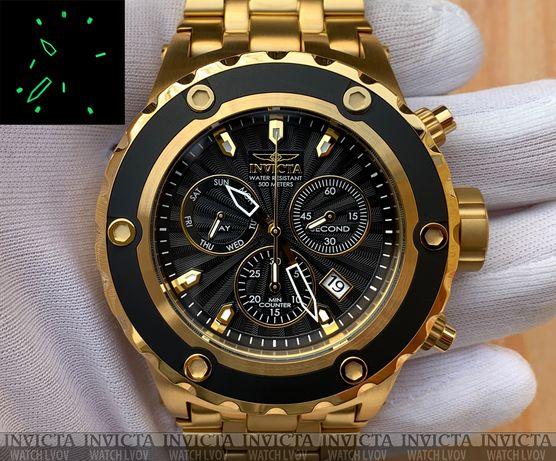 Часы Invicta 23921 Reserve Subaqua Gold Black Chronograph Swiss