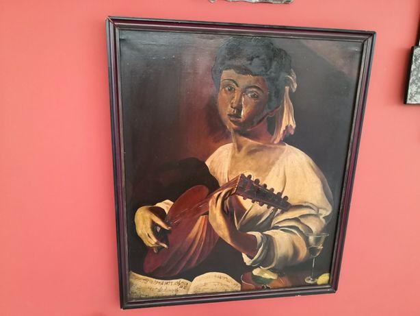 antyk obraz olejny Caravaggio - Lutnista wg. Cichowski Piotr