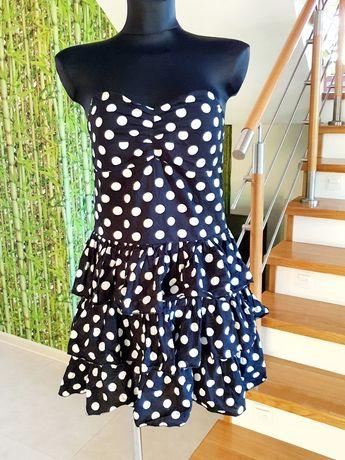 Bawełniana letnia sukienka w grochy