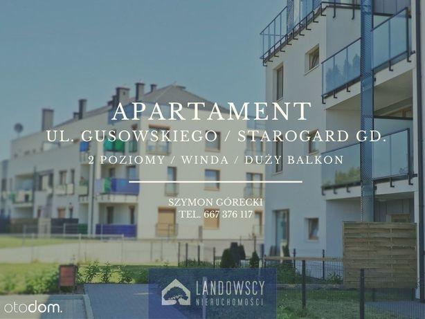 Dwupoziomowy apartament w nowym bloku / winda