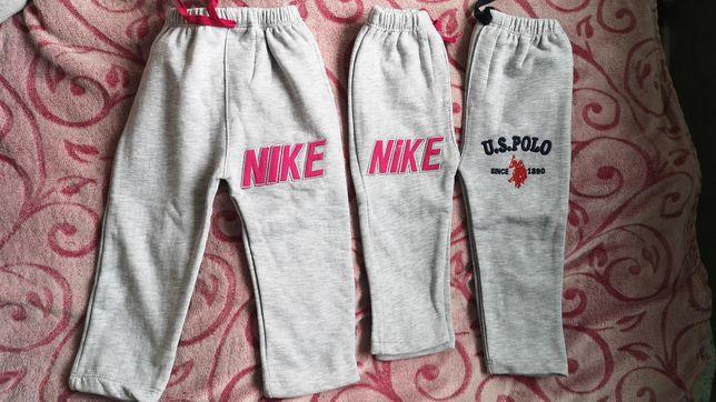Штаны детские с начесом, найк, поло, серый штаны с начесом рост 86-92.