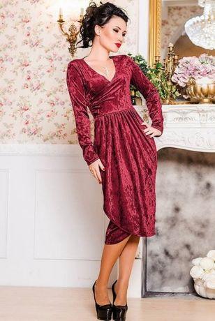Срочно! Распродажа! Платье женское нарядное велюровое 52, 54 размер