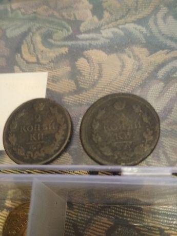 Монеты     2 копеек 1817.               И.        1819.       Без торг