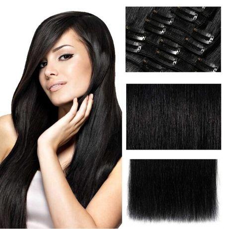 Doczepiane Włosy naturalne clip in on 7 taśm zestawy