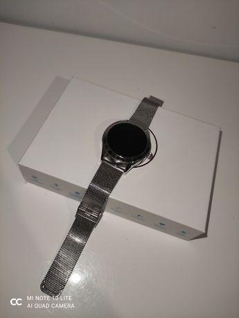 Smartwatch zegarek srebrny elegancki kw10