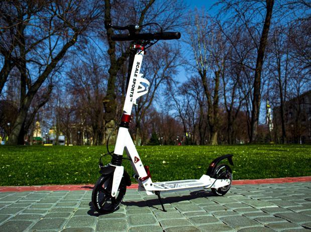 Акция! Самокат Scale Sports двухколесный самокат с дисковыми тормозом