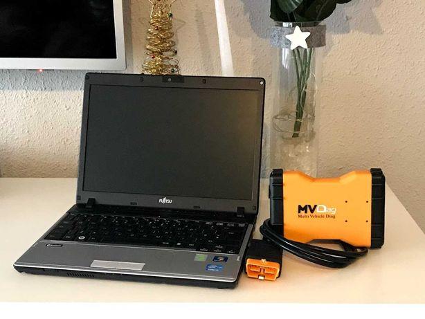 Zestaw laptop i interfejs diagnostyczny do aut osobowych i ciężarowych