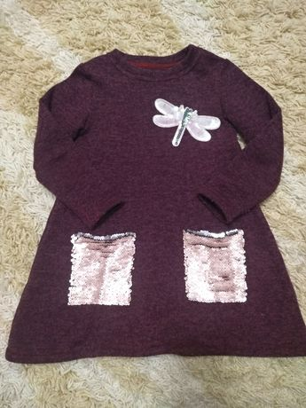 Продам тепле платтячко-тунику,на дівчинку 104-110 см