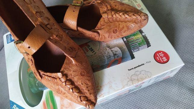 35 Kierpce góralskie buty skóra j. Nowe