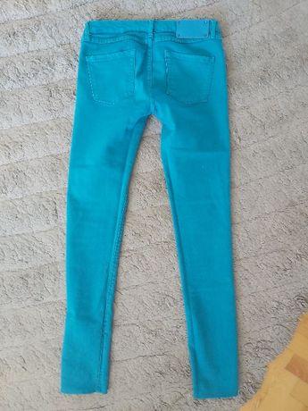 Tally Weijl spodnie turkusowe biodrówki zamek rurki S 36