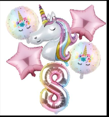 Balão gigantes Unicórnio, 6 balões por pack balões, festa, aniversário