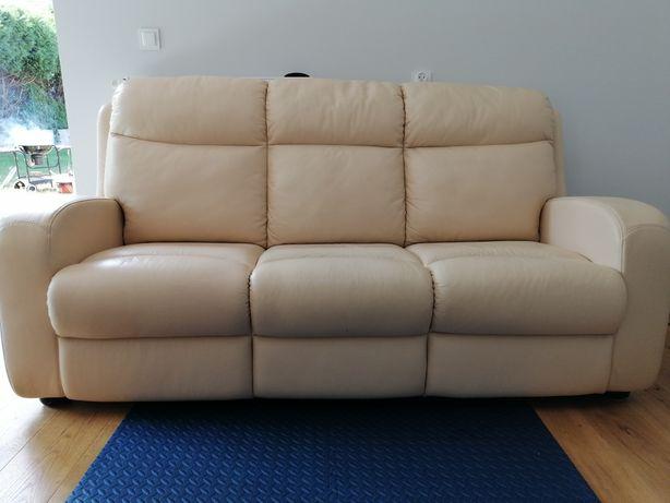 Wypoczynek kanapa i dwa fotele skóra Lorenzo