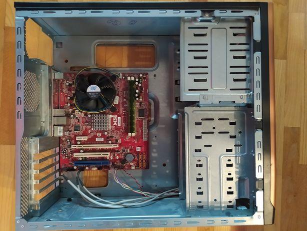 Sprzedam obudowę płytę główną procesor intel core 2 duo i pamieć ram4