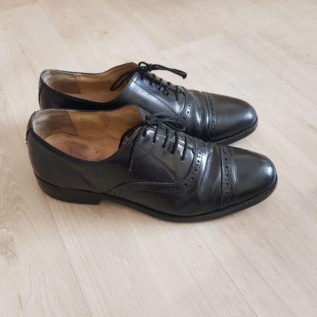 Мужские фирменные кожаные туфли samuel windsor 43-44 р 28 cм черные