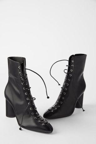 Botki Zara r 39 buty sznurowane