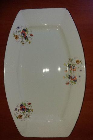 Talerz porcelanowy prostokątny 43x28 cm z PRL vintage