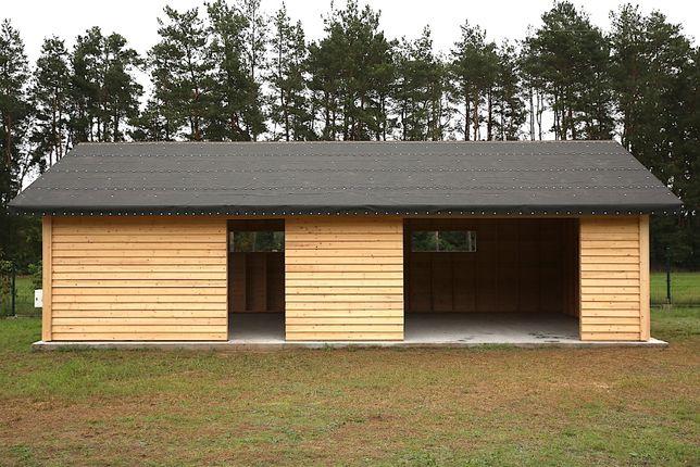 GARAŻ Drewniany domek gospodarczy dom wiata warsztat BAŻANT