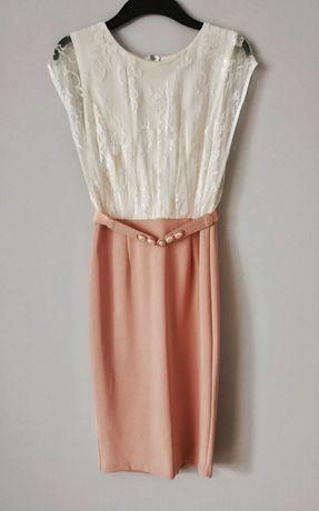 Paper dolls r.36/S sukienka wesele koronka boho vintage piękna