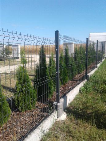 Panele ogrodzeniowe 133cm fi5 siatka panelowa