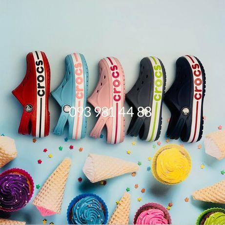 Детские подростковые Кроксы баябенд 31-34 размеры. Crocs Bayaband Kids