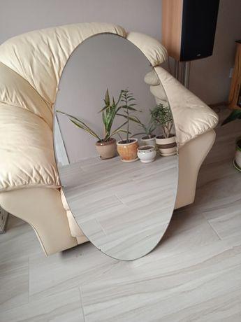 Зеркало овальное на деревянной основе