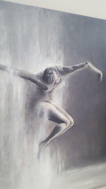 obraz olejny ręcznie malowany podobrazie płócienne kobieta taniec