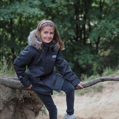 Зимняя парка удлиненная куртка для девочки р.110, 116 lego wear