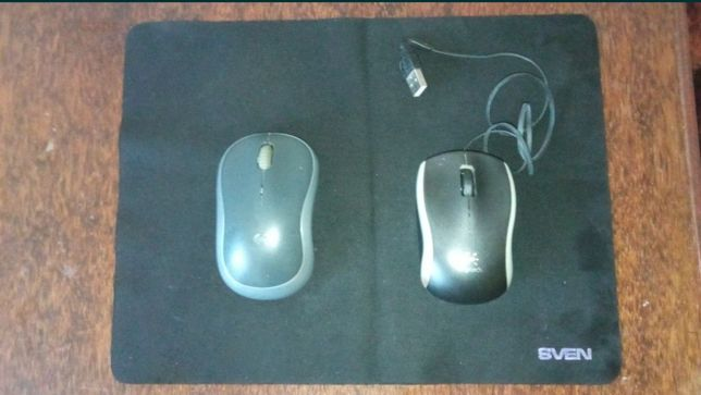 Две мышки с ковриком б/у