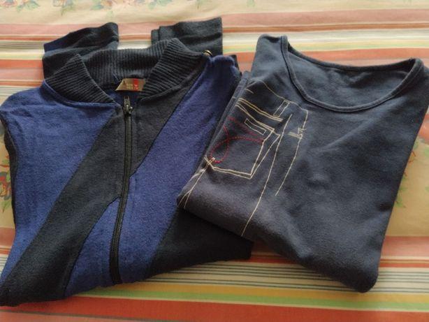 Sweat desporto Bershka S com capuz c/oferta blusa azul S
