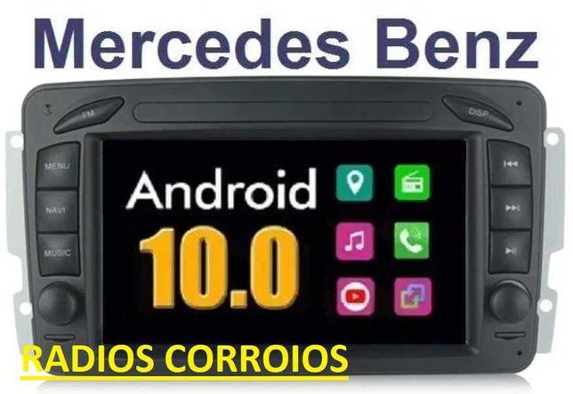 Android 10 Auto radio Mercedes C Class w203 e CLK w208