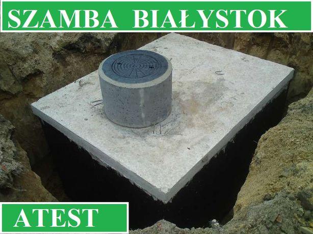 Szamba betonowe na ścieki 10m3 szambo zbiornik zbiorniki Białystok
