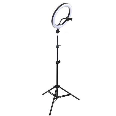 [NOVO] Ring Light c/ Anel 30 cm + Tripé Extensível [60 cm - 210 cm]