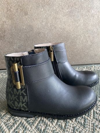 Детские осенние кожанные ботинки Michael Kors оригинал новые 29 р.