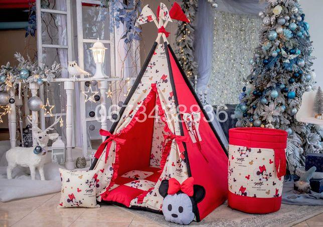 ХІТ! Палатка Вигвам «МИККИ МАУС» Красно-Черный. В наличии! VIGVAM ELIT
